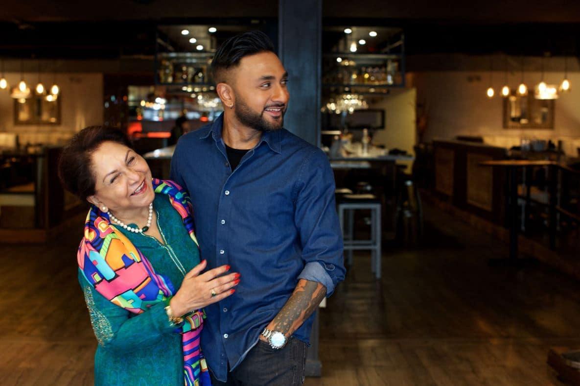 Ashish Alfred and his mother Veena