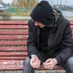 Drug addict on the street
